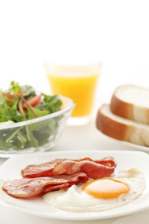 bacon and eggs: Breakfast Stock Photo