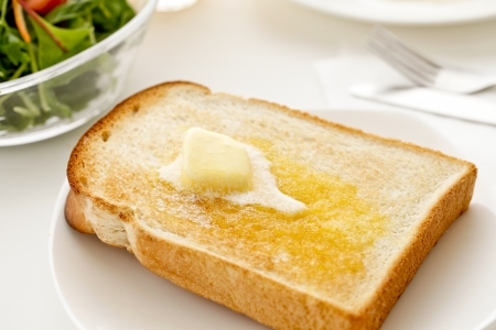 Buttered toast photo