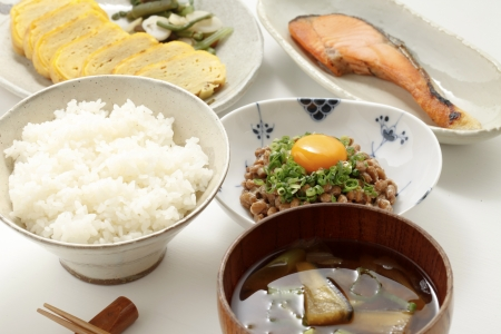 Japanese breakfast Stock Photo