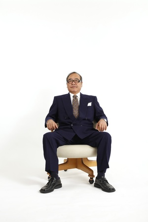 one senior man only: Management of Asia Stock Photo