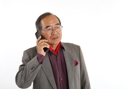 Senior mobile phone calls Stock Photo - 18484697