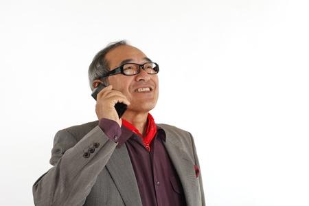 Senior mobile phone calls photo