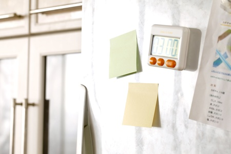 memorize: Sticky note in the kitchen