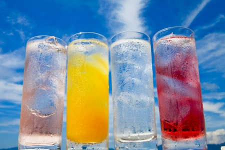 Summer sky and cold drinks Stock Photo - 18558414