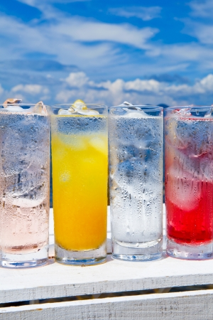 Summer sky and cold drinks Stock Photo - 18558424