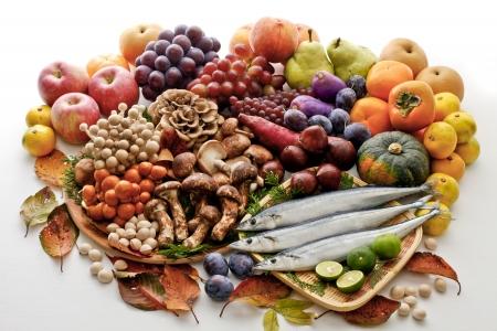 Ingredients of autumn 写真素材