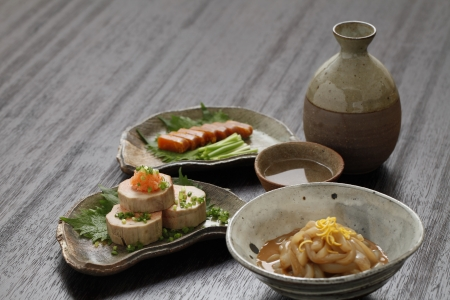 sake: Sake and Relishes