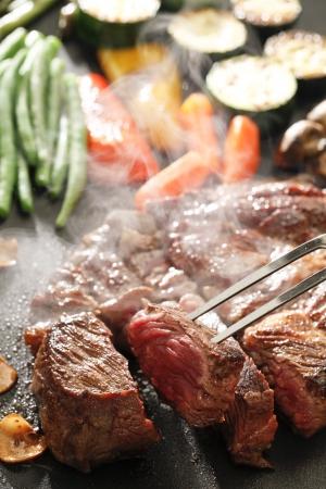steak plate: Steak