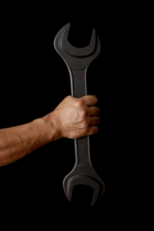 black grip: With a wrench