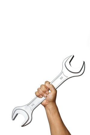 With a wrench photo