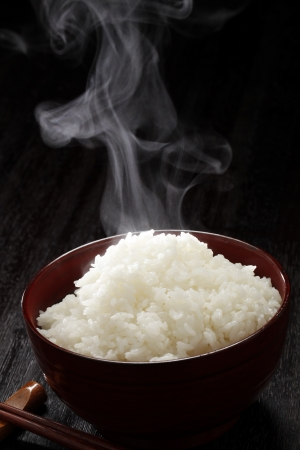 Freshly cook rice Stock Photo