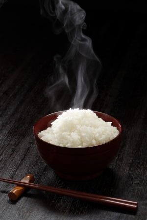 Freshly cook rice Stock Photo