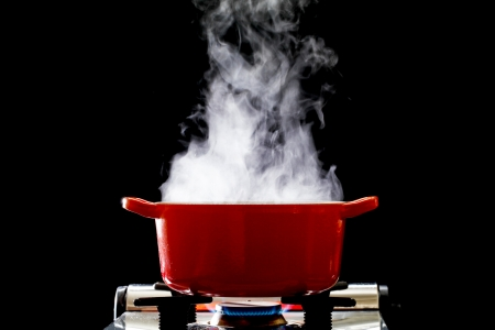 Steam iron: A boiling pot