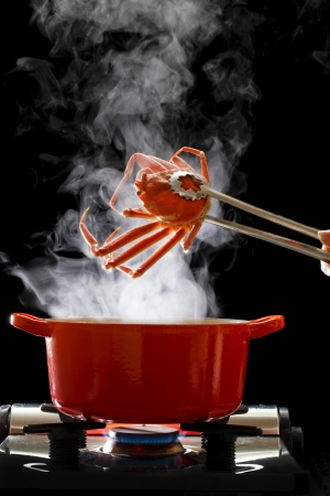crab pots: Boiled crab
