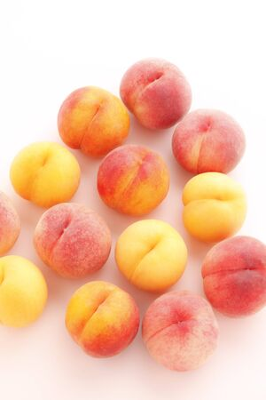 Peaches of japanese high-quality fruits 写真素材