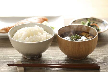 Desayuno japonés Foto de archivo