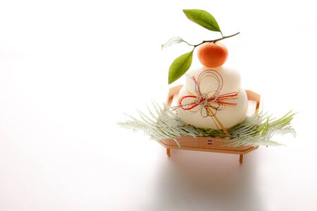Japanese New Year decorations, Kagami-mochi Stock Photo