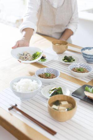 Japanese breakfast 免版税图像