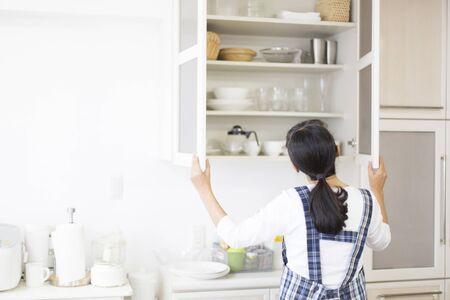 Almacenamiento de cocina Foto de archivo