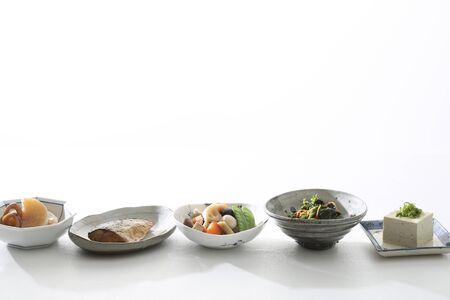 Japanese tableware, Japanese food, side dishes Stock Photo