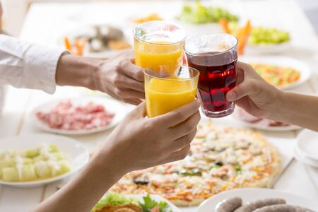 Toast with soft drink Banco de Imagens