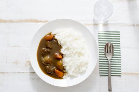 Beef curry, a popular Japanese dish