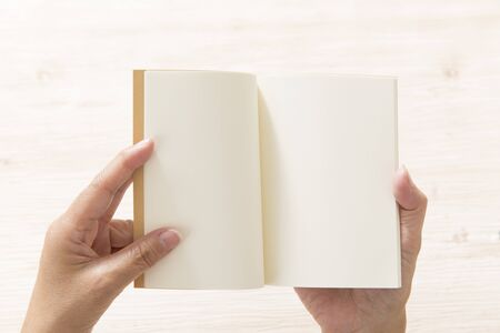 White notebook, message card Stock Photo