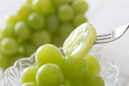Shine Muscat, Grapes Stock Photo