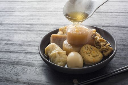 Japanese Food Oden, Japanese Soul Food Stock Photo