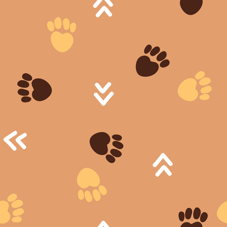 Arrow and paw cute pattern for kids, girls and boys.