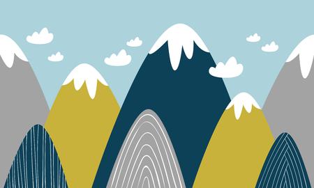 colored mountains Vector illustration. Illusztráció
