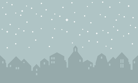 houses silhouette with stars Vector illustration.