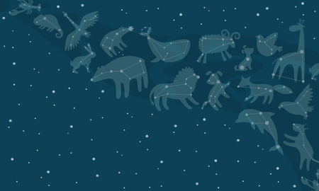 constellations background, Vector illustration.