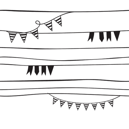 Pattern for kids, girls and boys. Vector illustration of banners 일러스트