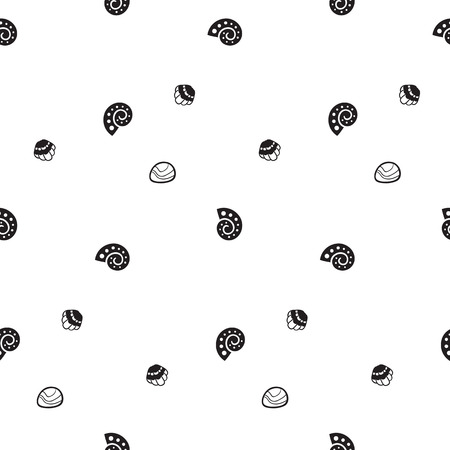 Pattern for kids, girls and boys. Vector illustration of snail