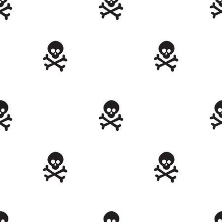 Pattern for kids, girls and boys. Vector illustration of cross bones Stock Illustratie