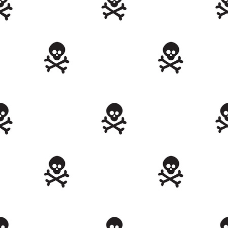 Pattern for kids, girls and boys. Vector illustration of cross bones Иллюстрация