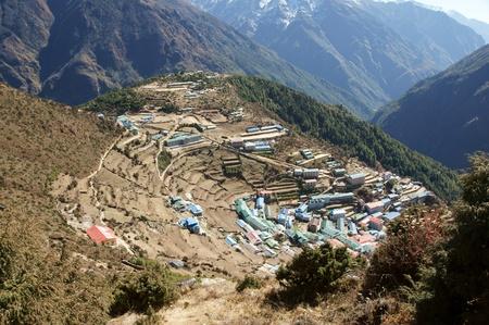 ナムチェ バザール、ヒマラヤ山脈