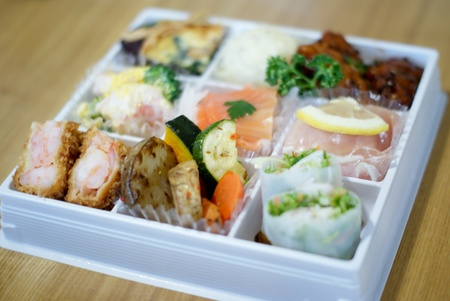 Japanese lunch bento box photo