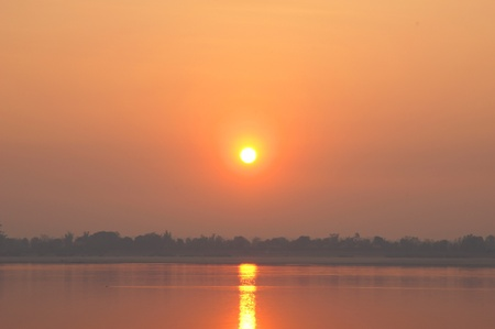 Mekong River at sunset  Four thousand islands in Laos Stock Photo - 12965579
