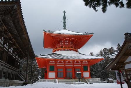 Pagoda in Koyasan,Konpon Daito, Japan Stock Photo - 13117695