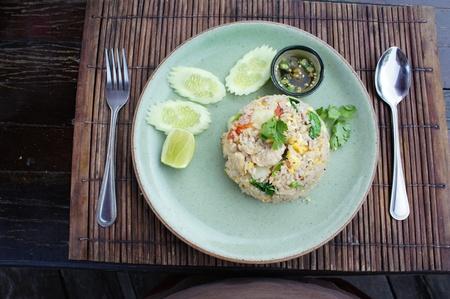Shrimp fried rice thai food   photo