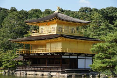 rokuonji: Golden Pavilion Kinkaku-ji in Kyoto, Japan