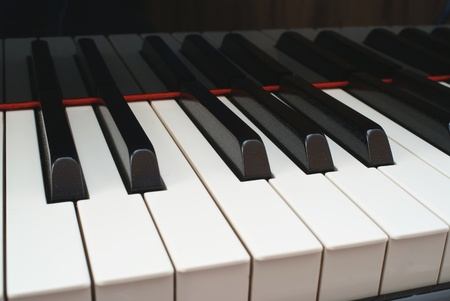 Closeup of Grand Piano Keys photo