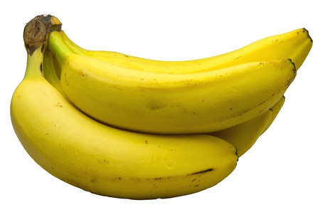 banana bunch  ,white background Stock Photo - 13111499