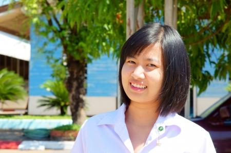 fresh graduate: Beautiful young woman  Portrait of asian woman