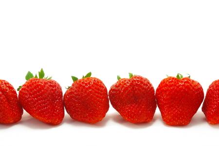 witte achtergrond: Strawberry White background Stockfoto