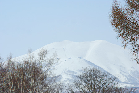 filming point of view: Niseko skiing area Stock Photo