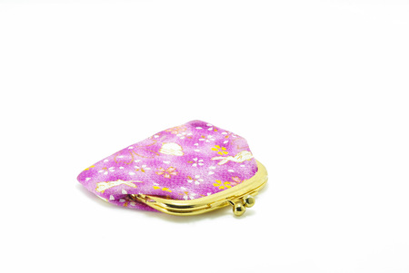knack: Coin purse with a metal snap frame GAMAGUCHI wallet Stock Photo