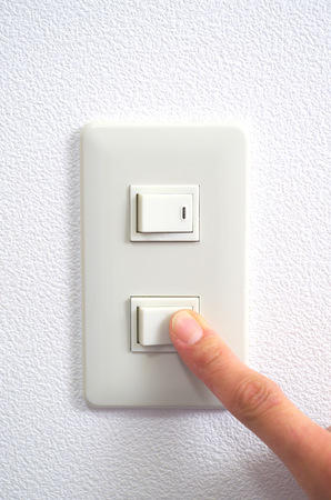 futility: Electric switch on Stock Photo